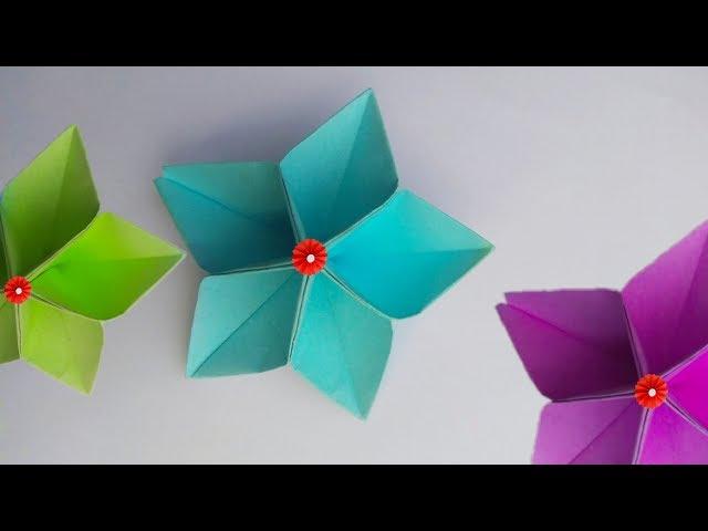 paper flowers | easy making paper #flower | kagojer ful