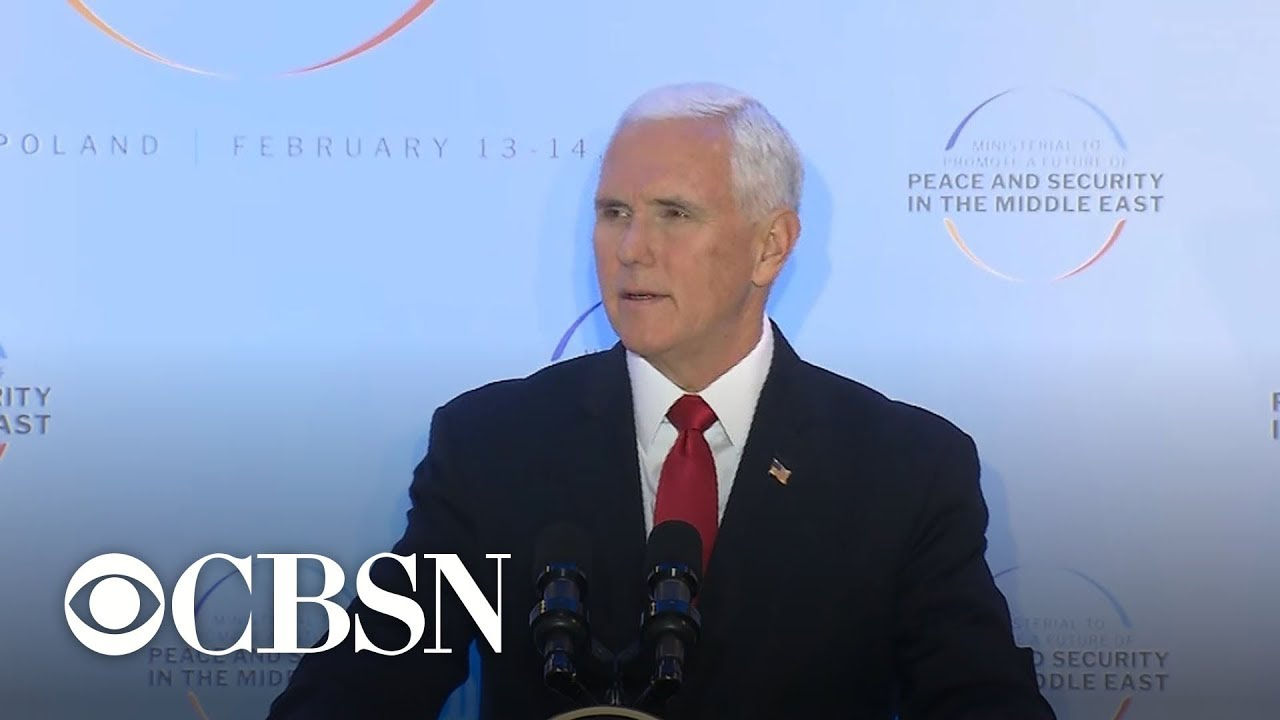 Vice President Mike Pence urges allies to leave Iran nuclear deal