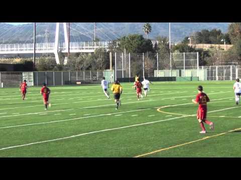 Cupertino Boys Soccer vs The Kings Academy Dec 2015 Half 1