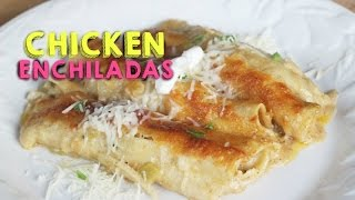 WHITE CHICKEN ENCHILADAS!