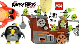 LEGO® Angry Birds™ Movie 75825 Piggy Pirate Ship Speed Build w/ Red Bomb & Leonard