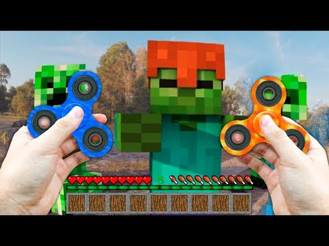 REALISTIC MINECRAFT IN REAL LIFE WATER FIDGET SPINNER vs LAVA FIDGET SPINNER IRL ANIMATION The Best