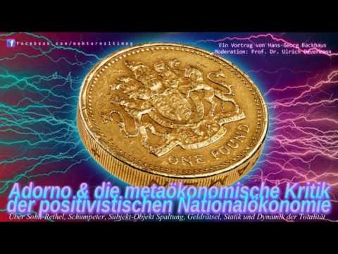 Adorno & die metaökonomische Kritik der positivistischen Nationalökonomie - (Backhaus)