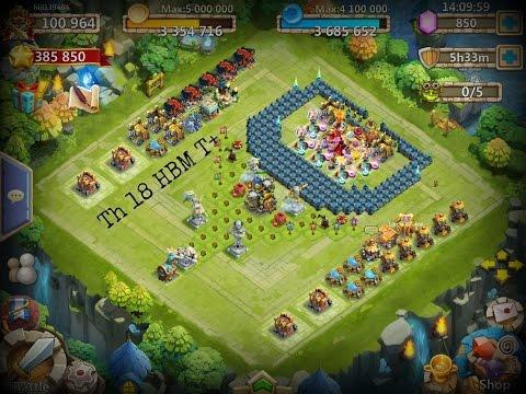Castle Clash Th 18 HBM Base Tutorial