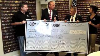 COINFORCE.com Donates $5,000 to VFW from sale of 9/11 challenge coins