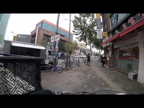 Cycling in Seoul : Yanghwa-ro _ Hongik-ro gil _ Dongmak-ro _ Eoulmadang-ro _ Seogang-ro _ Sinchon
