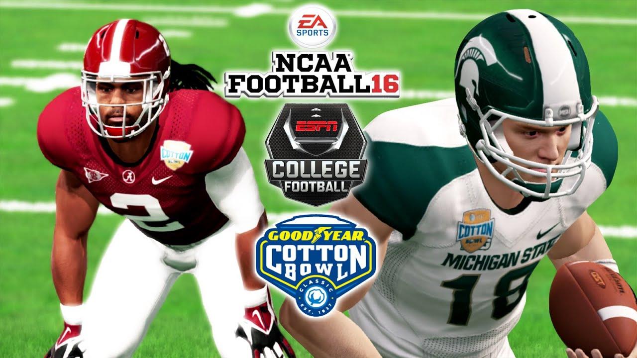 Ncaa Football 16 Goodyear Cotton Bowl Cfp 3 Michigan State Vs