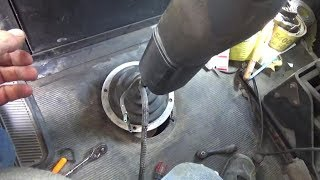 Replace clutch on big truck. (part 1) Remove shifter, free up top of trans.