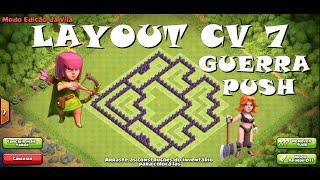 Clash Of Clans - Layout CV 7 PUSH/GUERRA - (Layout Town Hall 7 - PUSH/WAR BASE) #2