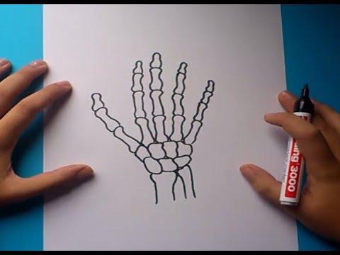 Como dibujar una mano paso a paso 2  How to draw a hand 2  YouTube