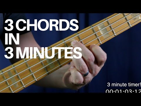 Learn How To Play 3 Movable Bass Chords in 3 Minutes | Bass Guitar Lesson