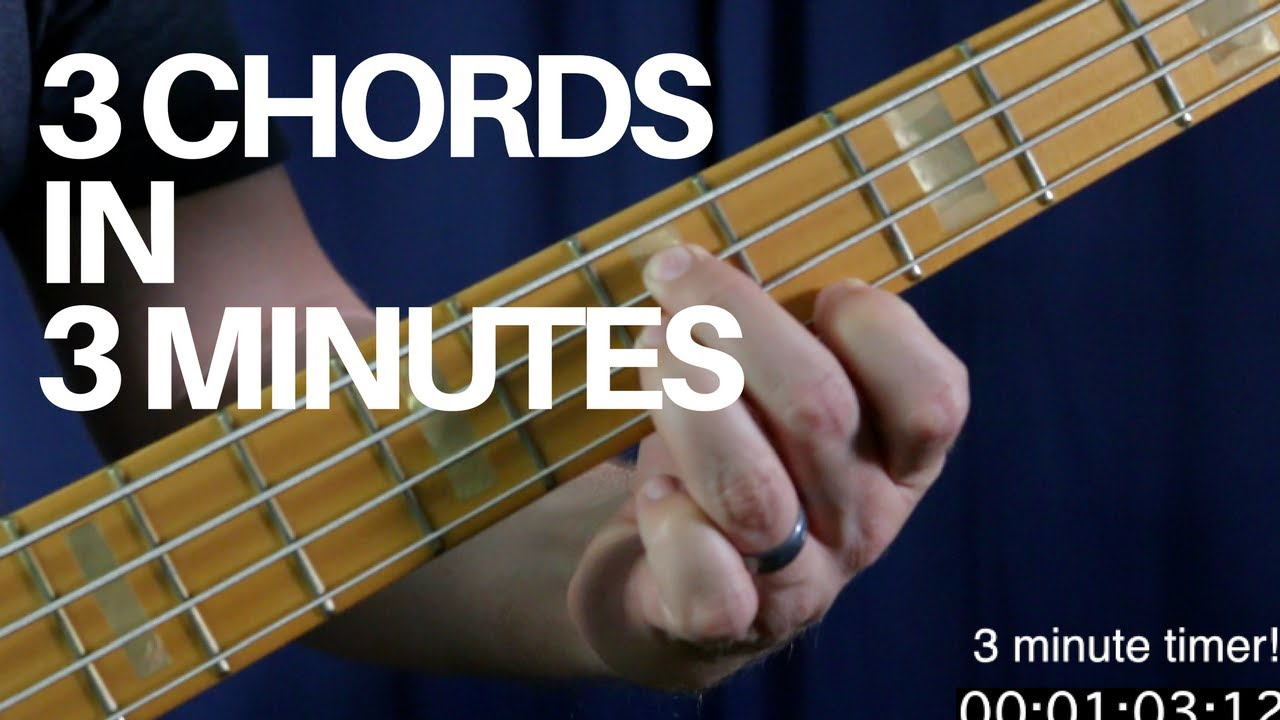 Learn How To Play 3 Movable Bass Chords In 3 Minutes Bass Guitar