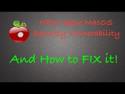 New Apple Security Vulnerability and HOW TO FIX IT!