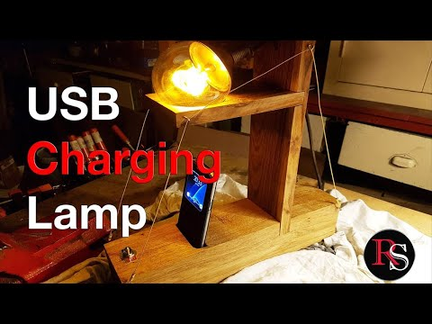 USB Charging Bedside Lamp / Desk Lamp / DIY