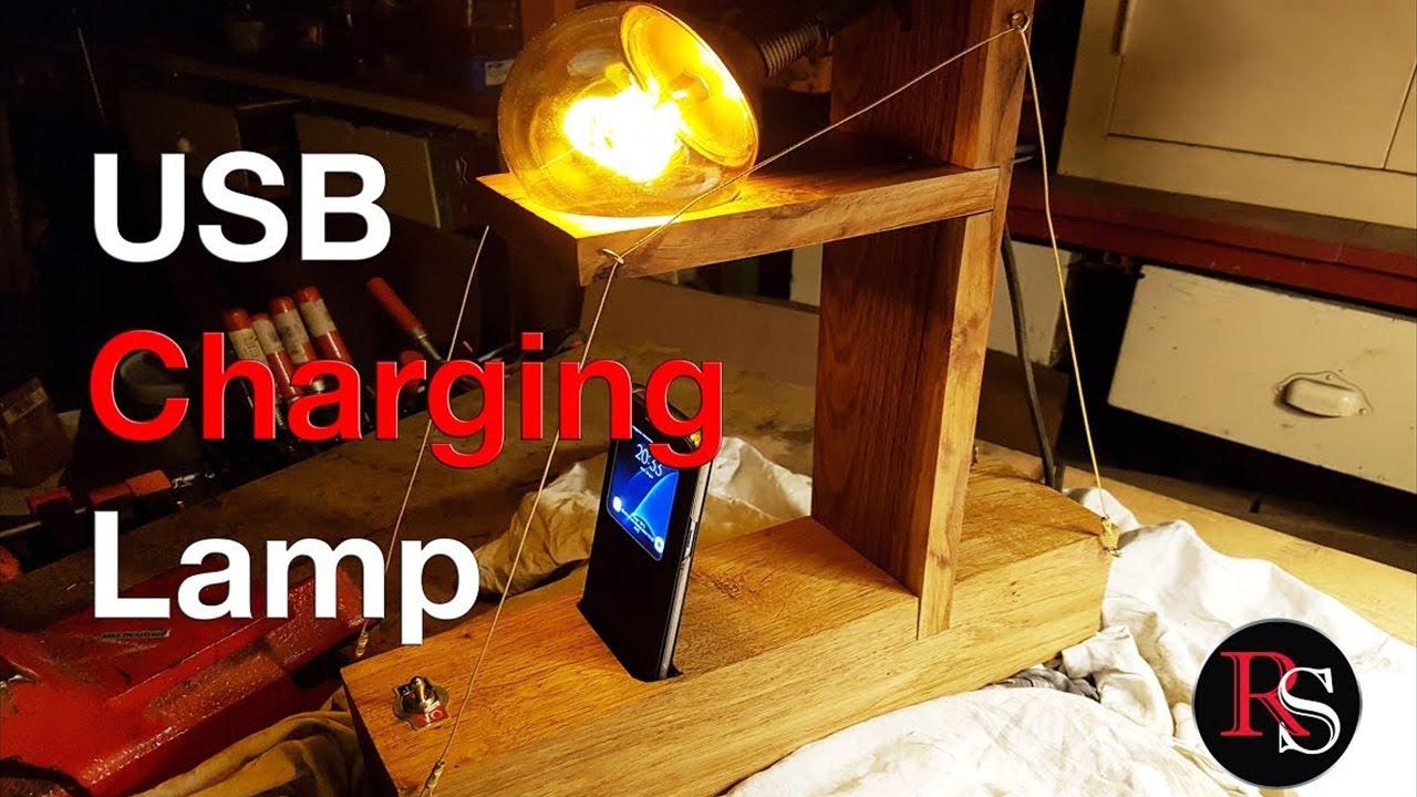 Usb Charging Bedside Lamp Desk Lamp Diy Youtube