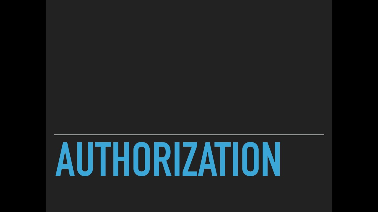 PHP - Authorization (1 / 2)