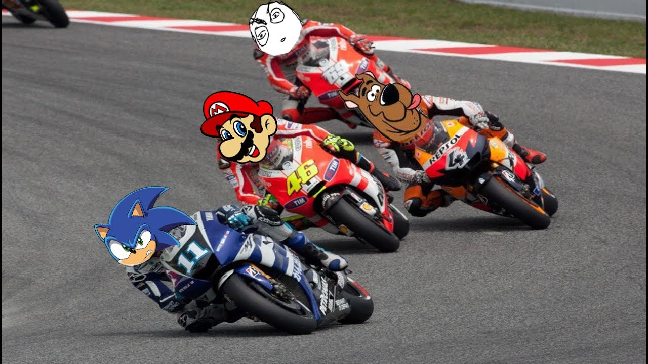 Corrida De Moto Mario X Sonic X Scooby Doo Youtube