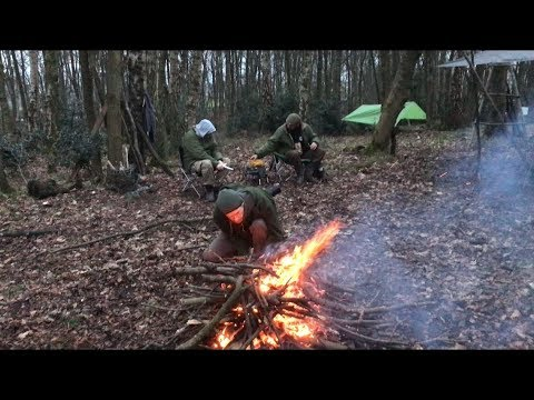 3 NIGHTS WINTER  CAMPING AT WEST YORKSHIRE BUSHCRAFT MEET