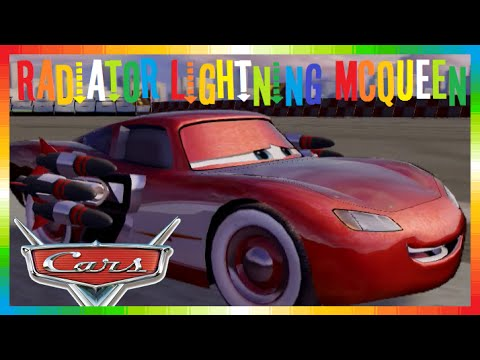 CARS 2 - Radiator Lightning McQueen ( The Disney Game Race, Mini Movies + Mater & Finn McMissile )