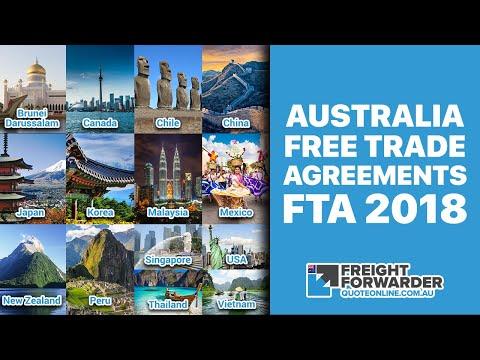 Australia Free Trade Agreements (FTA) 2018