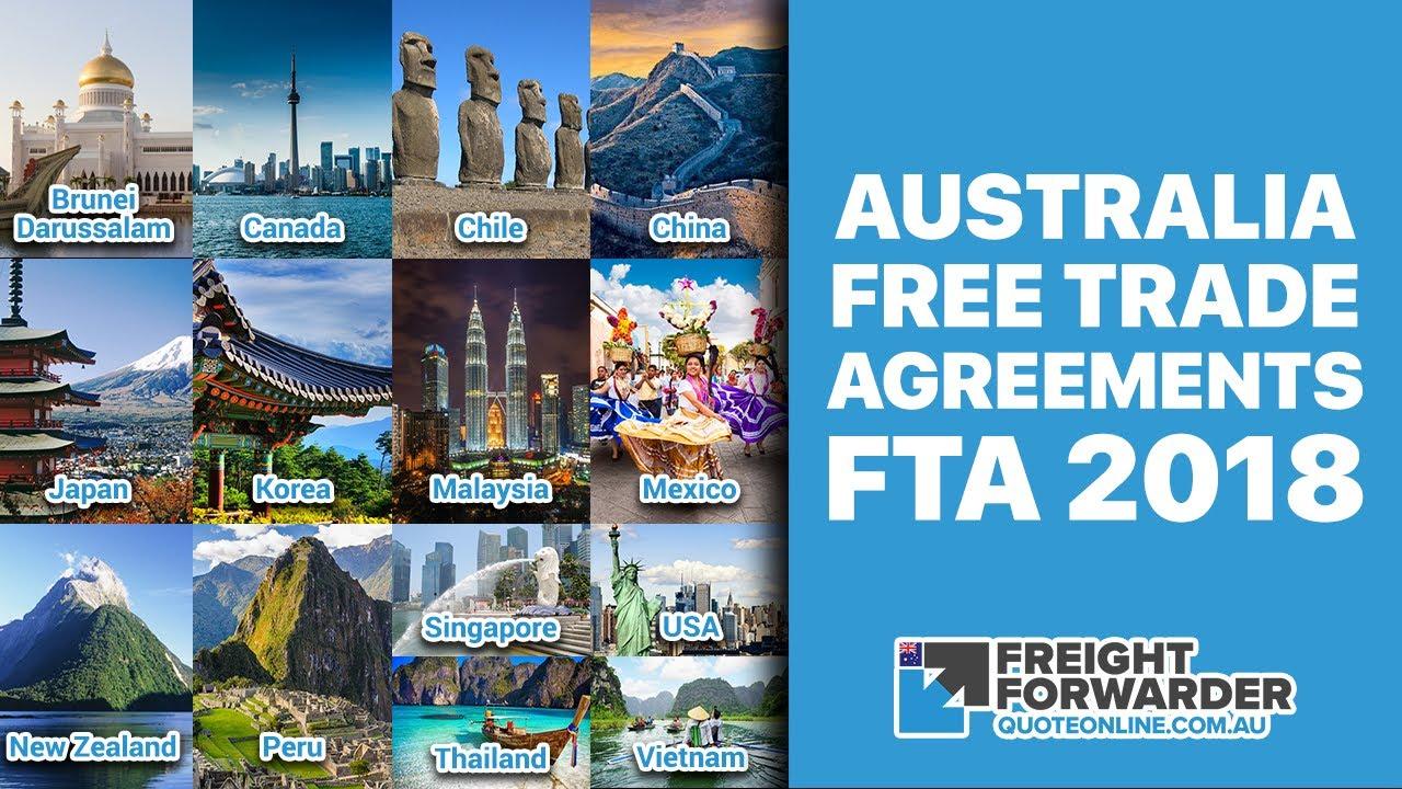 Australia Free Trade Agreements Fta 2018 Youtube