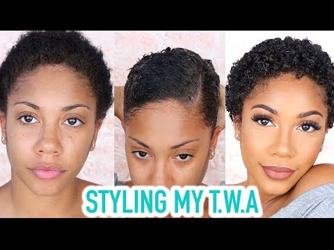 STYLING MY TWA (NATURAL SHORT HAIR) + GRWM