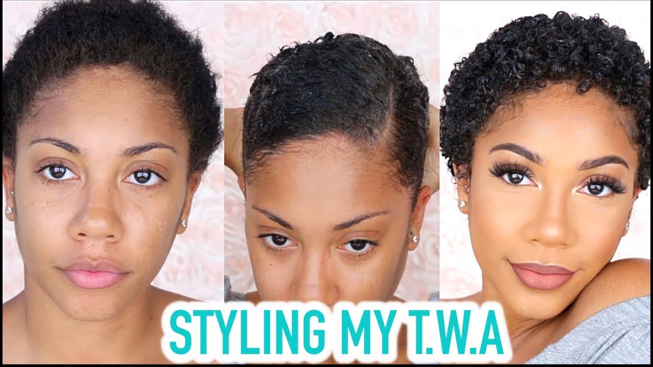 Style For Hair: STYLING MY TWA (NATURAL SHORT HAIR) + GRWM