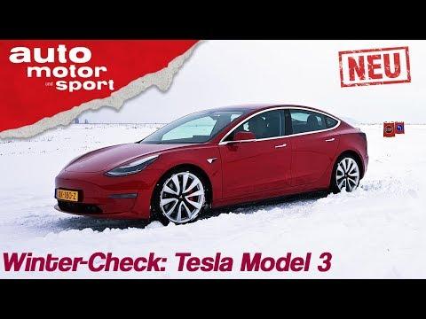Tesla Model 3 (2019): Winter-Check mit Alexander Bloch - Review/Fahrbericht | auto motor & sport