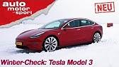 Tesla Model 3 (2019): Winter-Check mit Alexander Bloch - Review/Fahrberichtauto motor & sport
