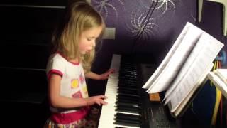 """Фортепиано """"Воробей"""". """"Колыбельная"""". """"Ой ти, дiвчино""""  (Элина 4 года)"""