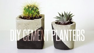 DIY CEMENT PLANTER