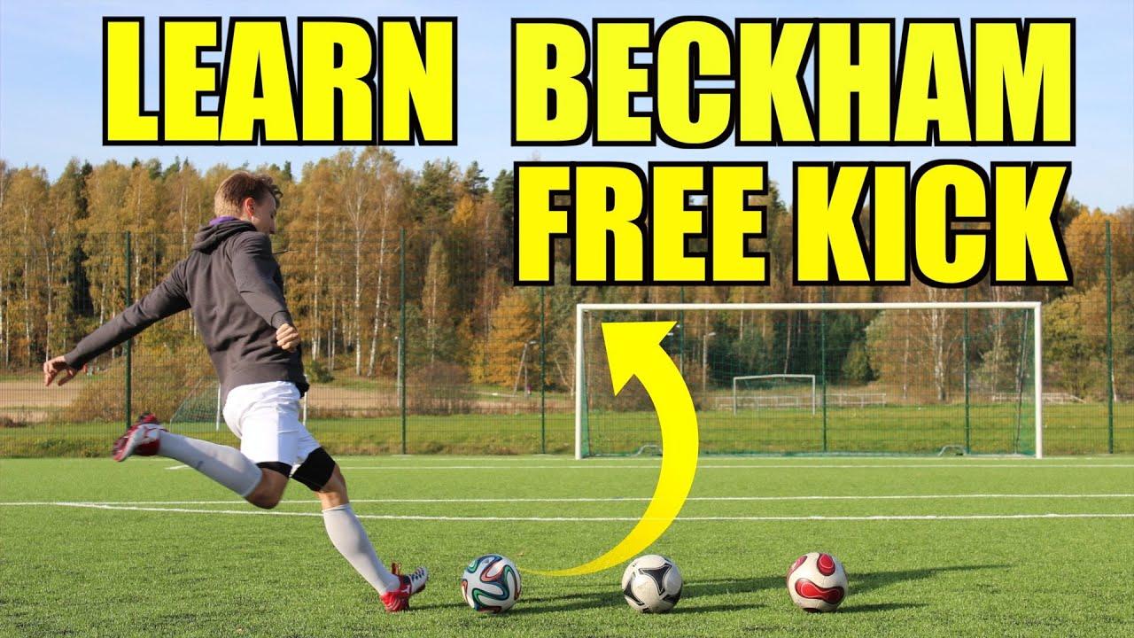how to bend a football like beckham