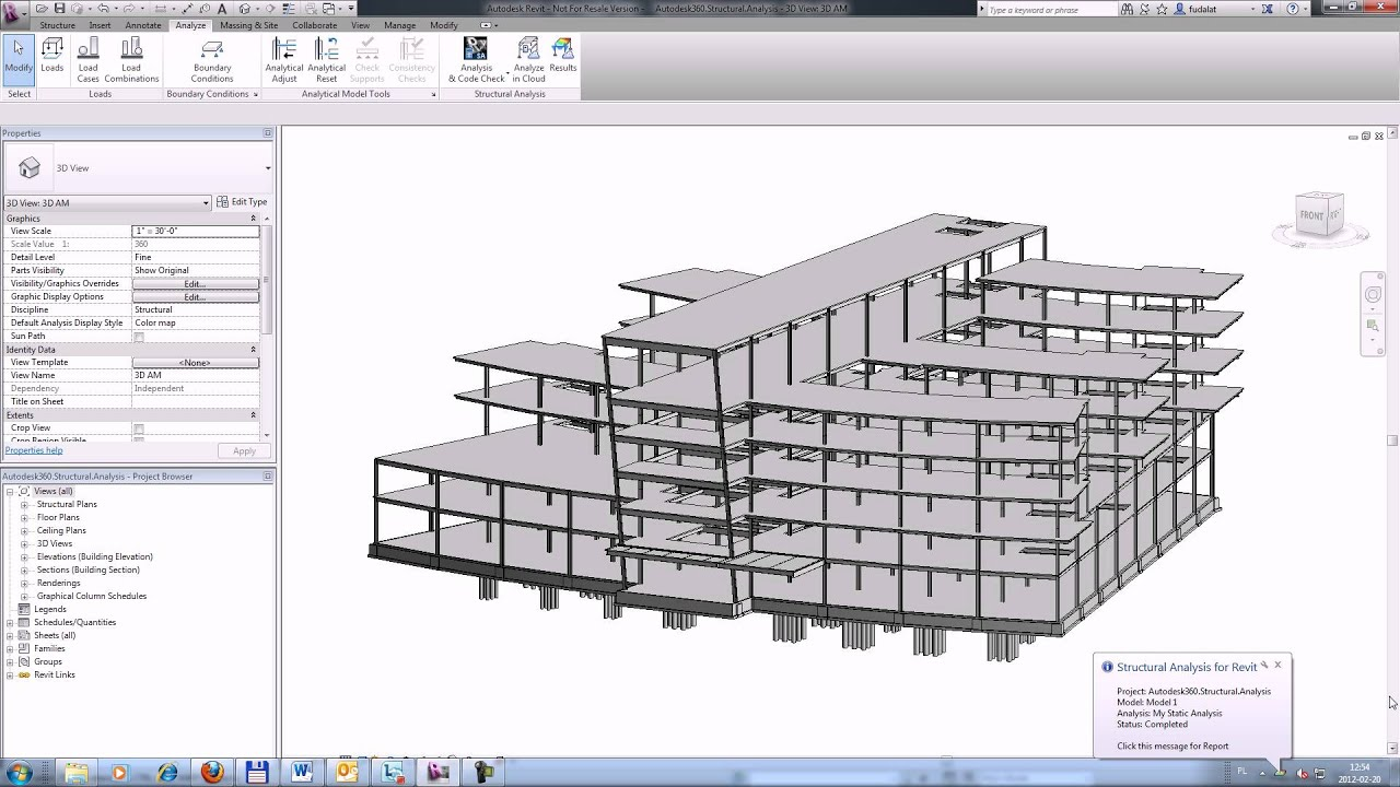 Drafting Floor Plans Autodesk 360 Structural Analysis For Autodesk Revit Youtube
