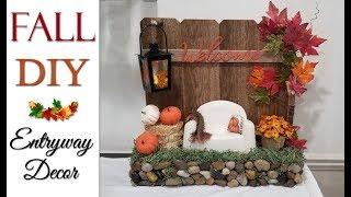 Fall DIY 🍁 Entryway Decor
