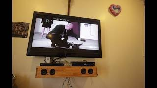 How to build a sound bar With floating entertainment center.