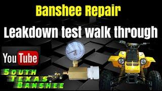 Banshee leak down test walk through and leak find.