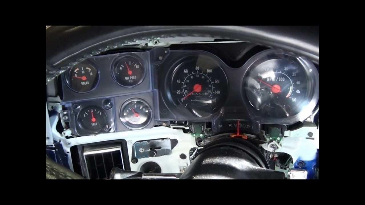 81 chevy c10 custom gauge install [ 1280 x 720 Pixel ]