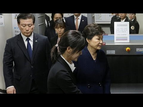 South Korea's president Park Geun-hye arrested