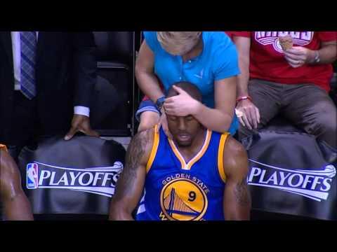 Andre Iguodala neck ''massage'' vs Rockets! (2016 Playoffs)