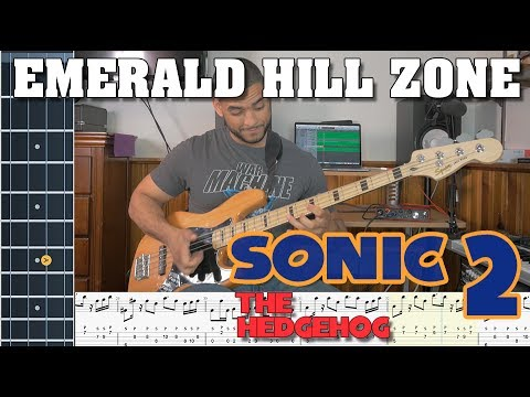 Emerald Hill Zone - Sonic the Hedgehog 2 (Bass Cover with Tabs)