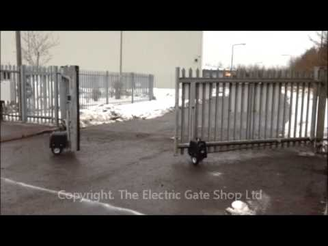Casit Industrial Wheel Drive Electric Gate System Youtube