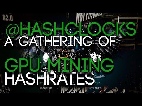 @HashClocks, GPU Mining Hashrates Database! Including RX570/580