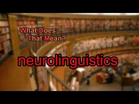 What does neurolinguistics mean?