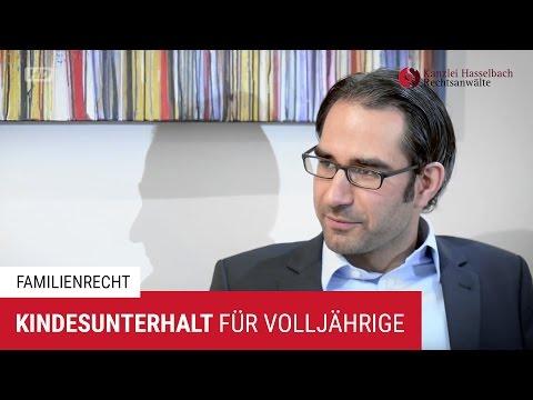 Kindesunterhalt für Volljährige: Darauf kommt es an - Kanzlei Hasselbach