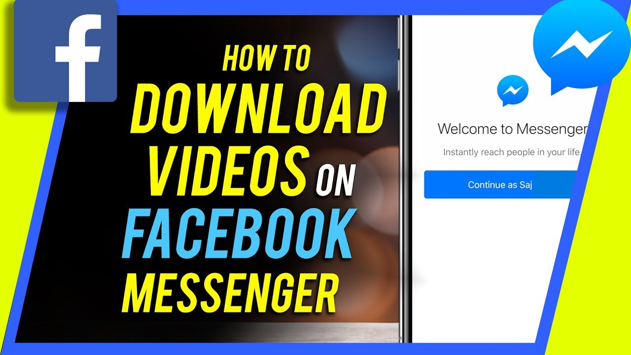 can you download facebook messenger videos