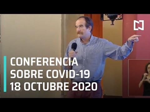 Conferencia Covid-19 en México - 18 de Octubre 2020