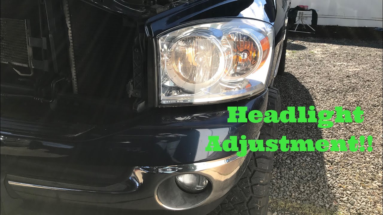 How To Adjust Headlights On A Dodge Ram 2002 2008