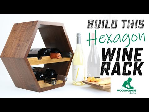 How to Build A Custom Wood HEXAGON WINE RACK