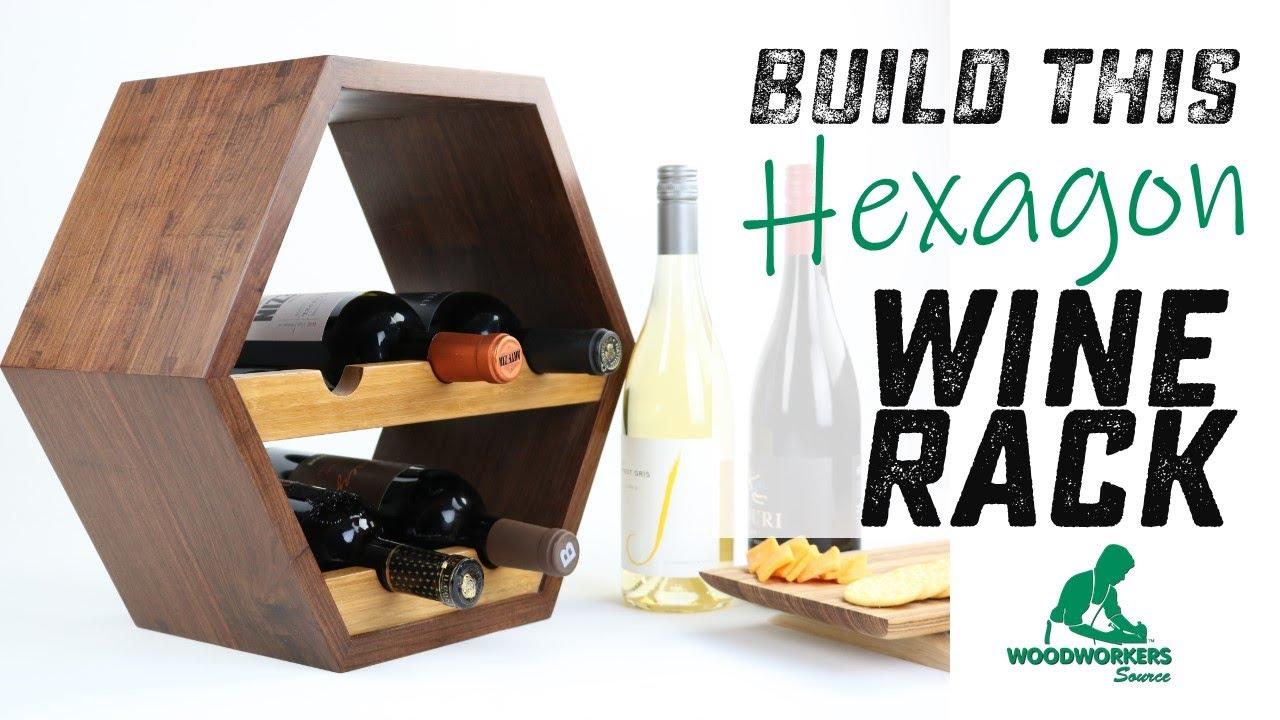 How To Build A Custom Wood Hexagon Wine Rack Youtube