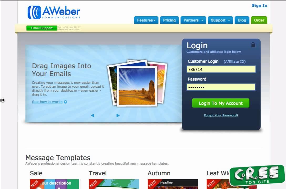 Formation sur l'auto repondeur Aweber, indispensable a votre site